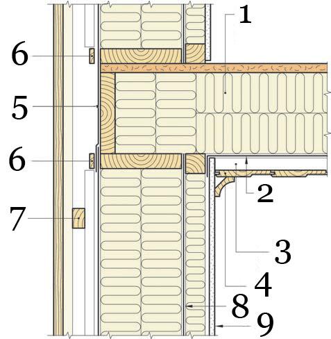 Рис.16. Утепление и герметизация перекрытия между отапливаемыми помещениями.