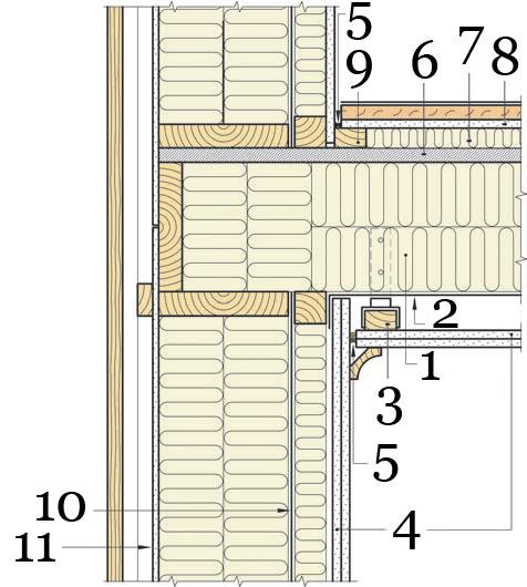Рис.17. Междуэтажное перекрытие с повышенными звукоизоляционными свойствами.