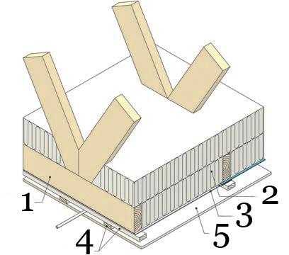 Рис.21. Утепление и герметизация чердачного перекрытия между отапливаемым помещением и неотапливаемым неутепленным чердаком.