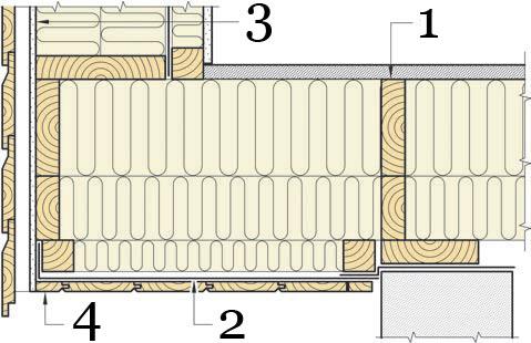 Рис.24. Утепление и герметизация выступающих участков перекрытия.