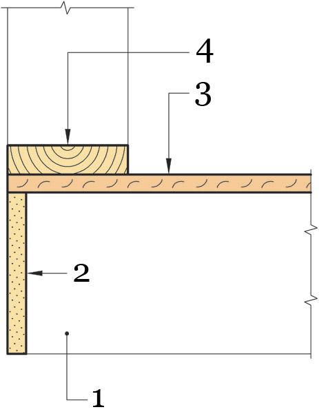 Рис.33. Крепление осп в местах примыкания к несущим стенам по технологии «Платформа».