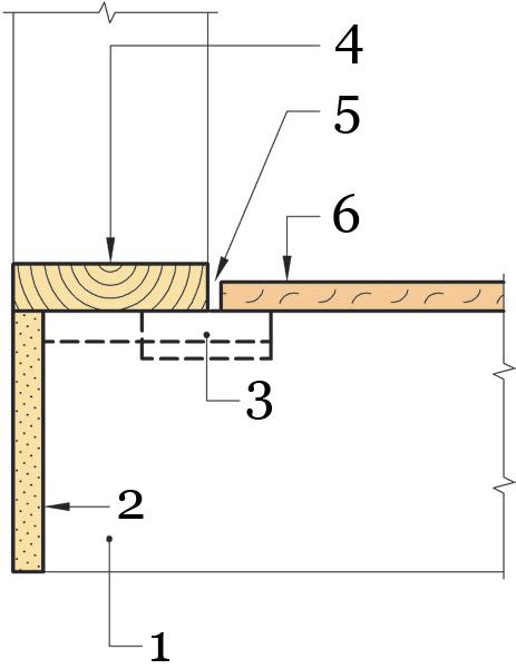 Рис.34. Крепление осп в местах примыкания к несущим стенам по технологии «Сухой монтаж».