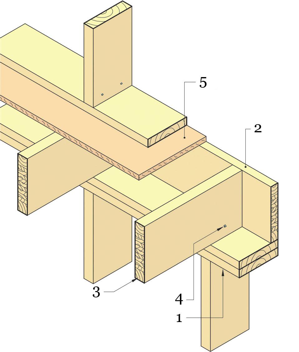 Сборка каркаса перекрытия - междуэтажное перекрытие