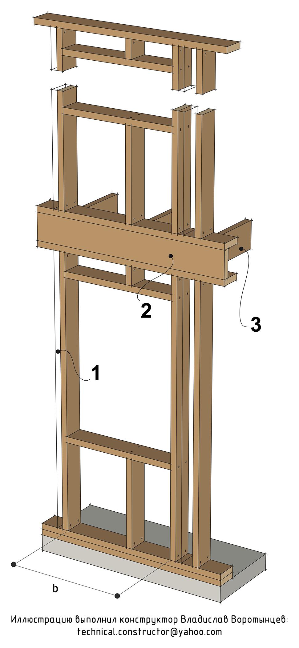 Рис. 9.24 Проём в несущей стене с нагрузкой только от междуэтажного перекрытия - (проём типа C по норвежской классификации) Выбор конструкции оконных и дверных проёмов