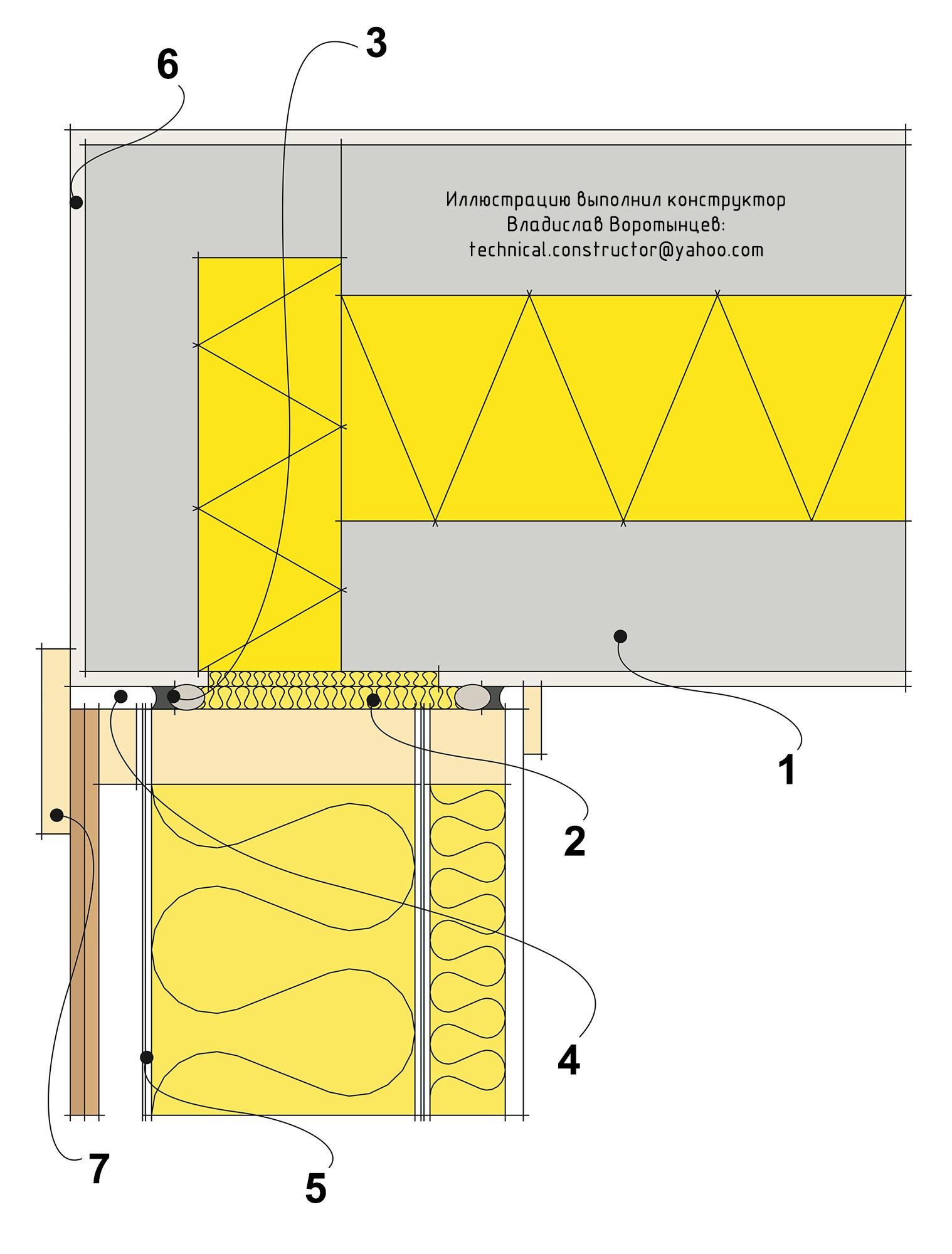 Двухэтапная герметизация стыка деревянной каркасной стены со стеной из утеплённых керамзитобетонных блоков
